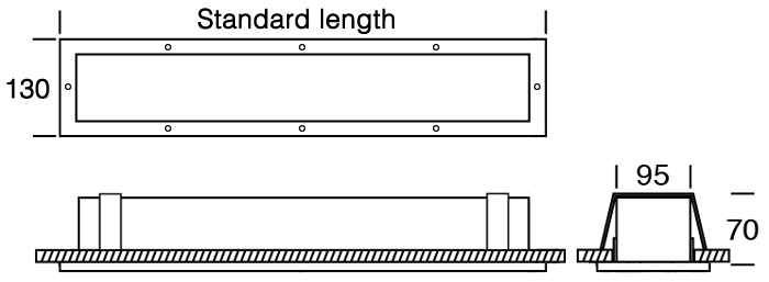 Hard Knox Recessed standard diagram