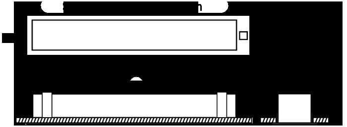 LIN100 Plaster Recess LSL/LED Emergency diagram