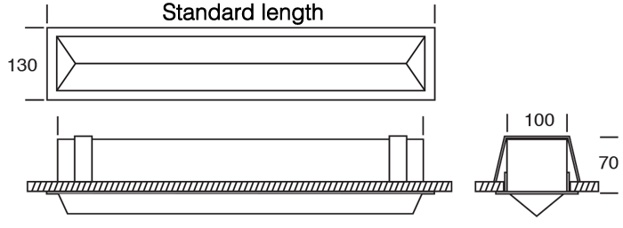 WedgeLed Plaster Recessed diagram