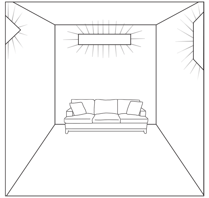 WedgeLed room diagram