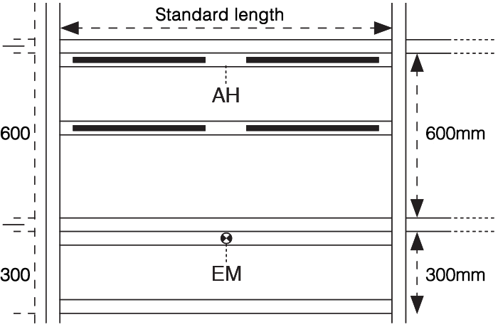 Linear 300 Tee-Bar standard diagram