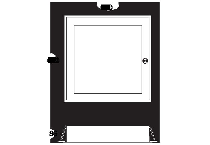SquareStandard Frame with EM or Sensor Option