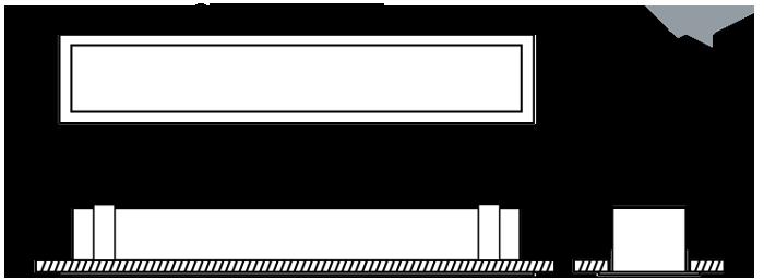 LIN100 Plaster Recess standard diagram