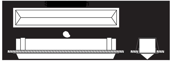 WedgeLed Plaster Recessed diagram
