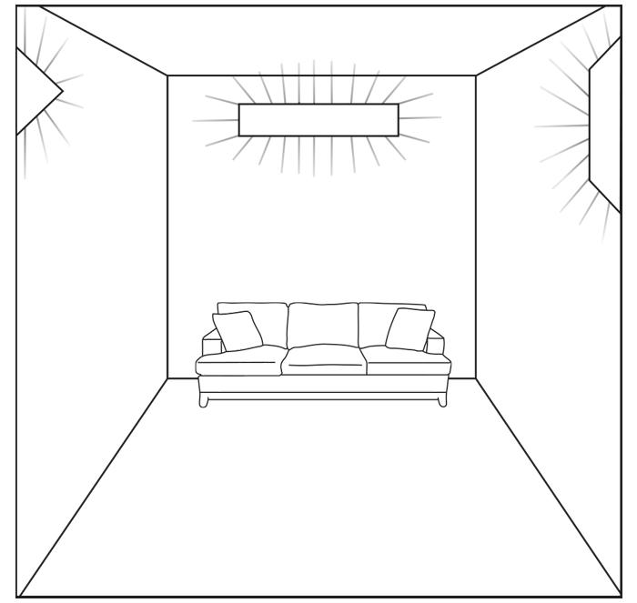 WedgeLed room diagram