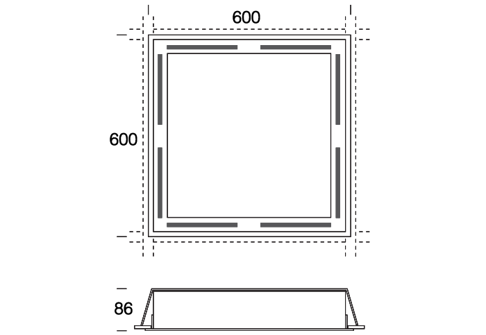 Square Air Handling Option (2 or 4 sides)