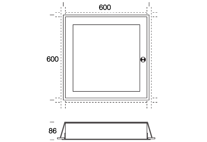 SquareStandard Frame with EM or Sensor Option