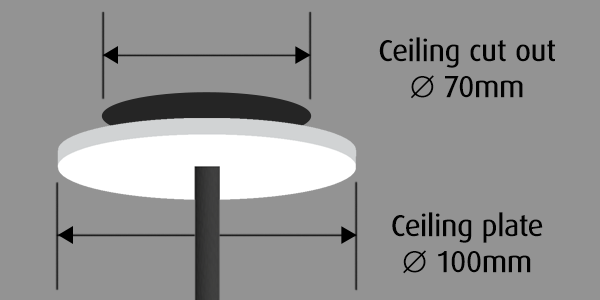 Pendant ceiling mount diagram