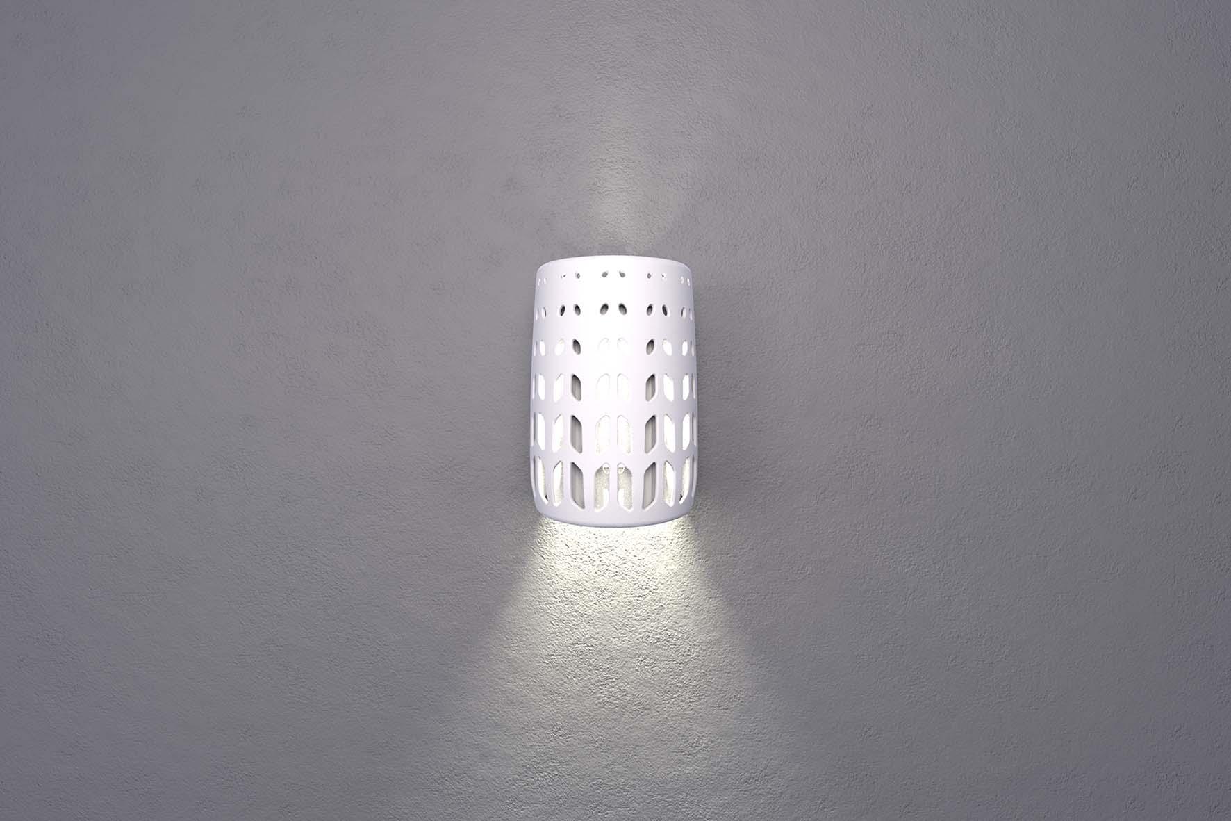 Lantern Front White On